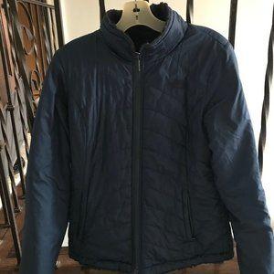 Navy Blue Fur-Lined Winter Jacket